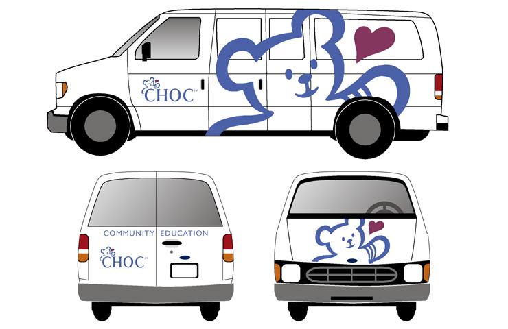 CHOC Community Education Vans
