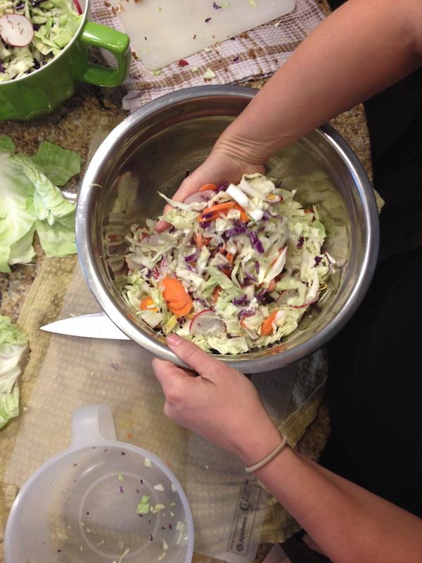 Mixed veg kraut in the making