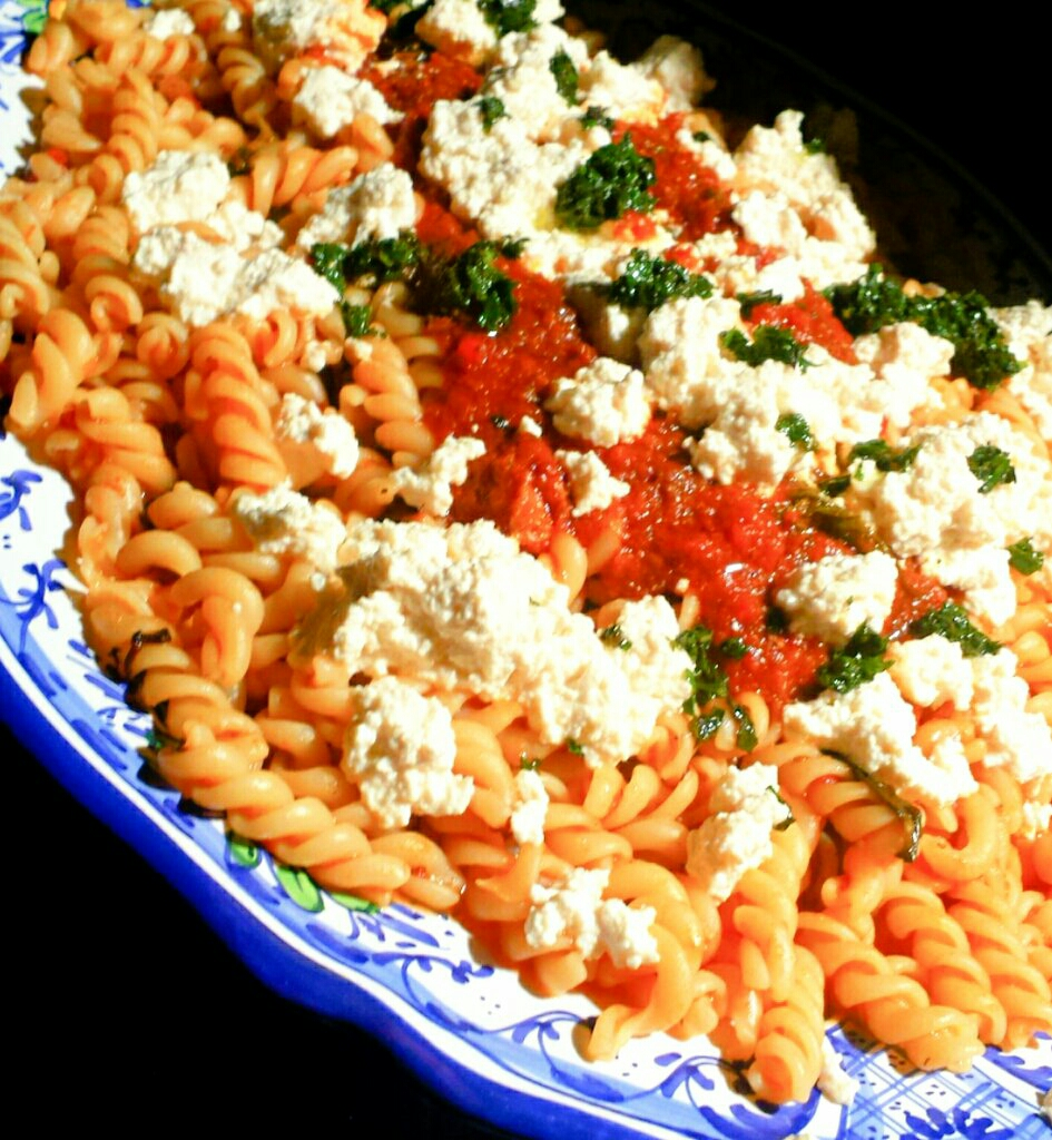 Homemade ricotta cheese and 24 hours cooking Neapolitan ragout
