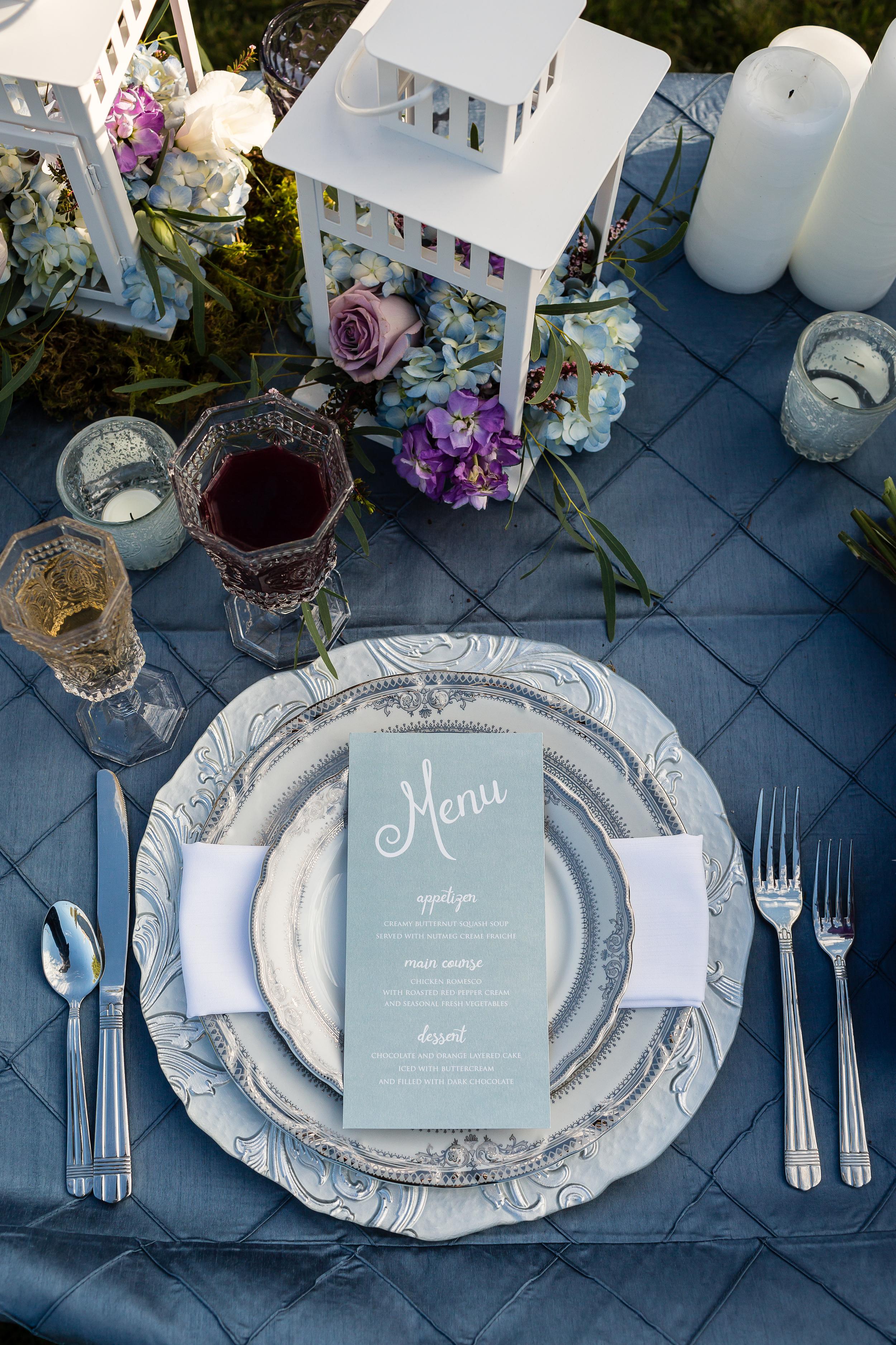 blue menu