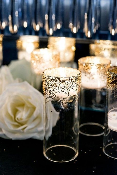 gold rimmed decor