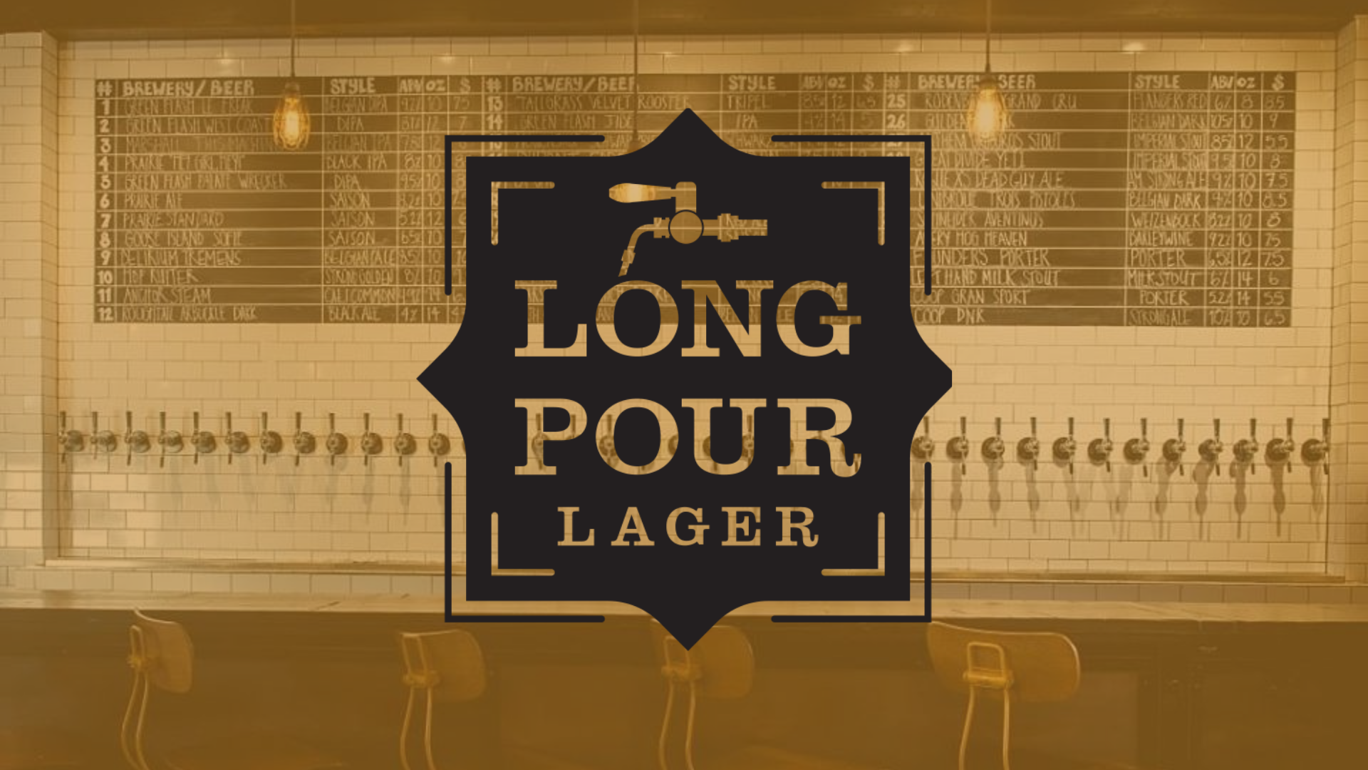 Long Pour Lager at Oak & Ore
