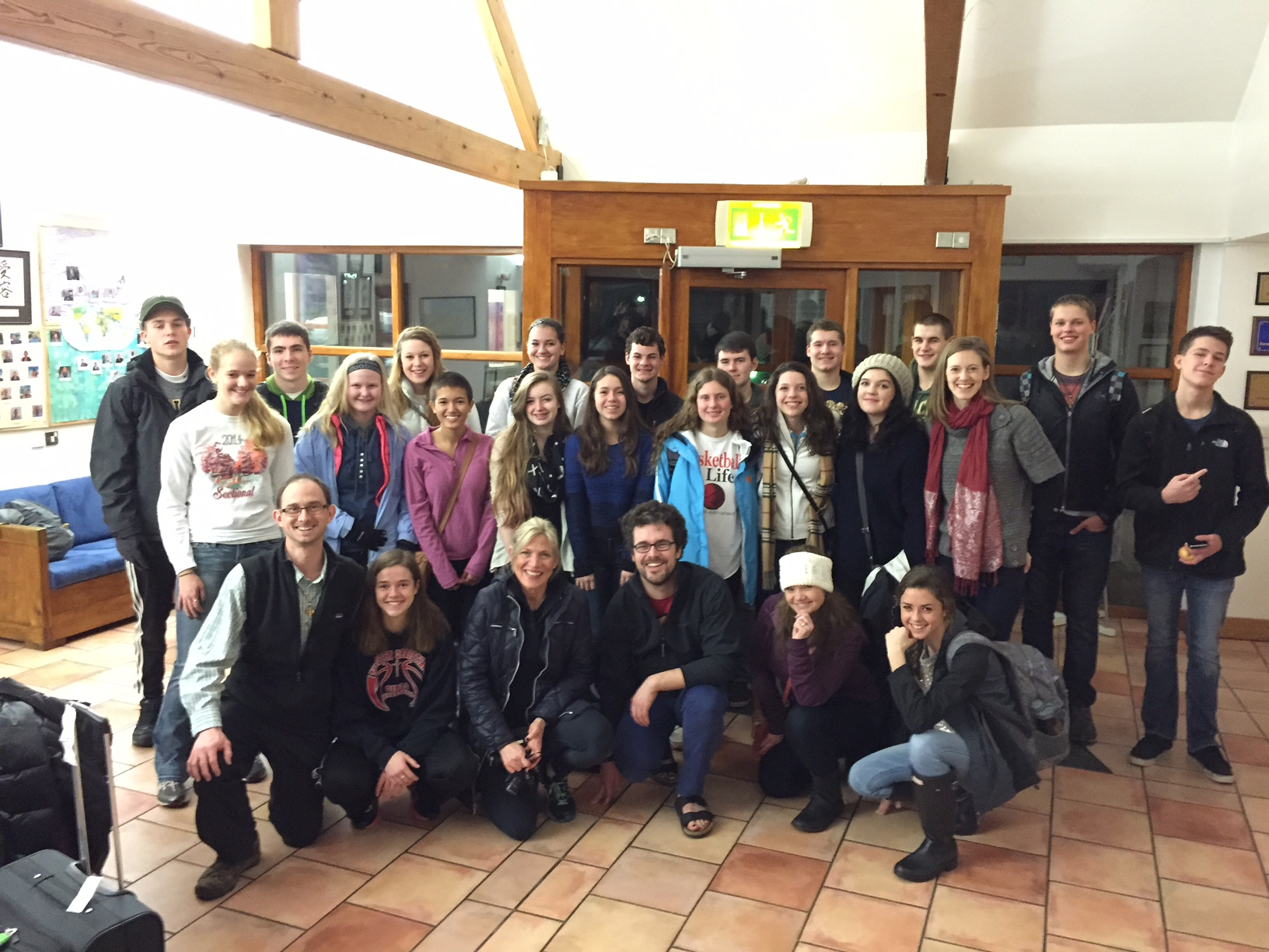 Youth Group in Ireland with Celtic Footstep