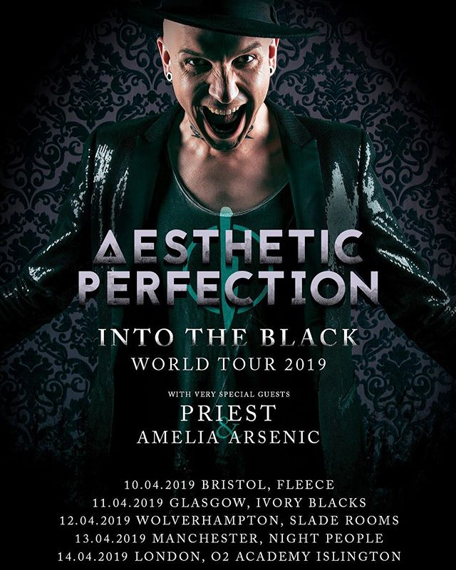 Hey European cuties! About to hit the road with @thisisaestheticperfection and @priestofficial. I can't wait to meet you all. 🇬🇧🐨✨