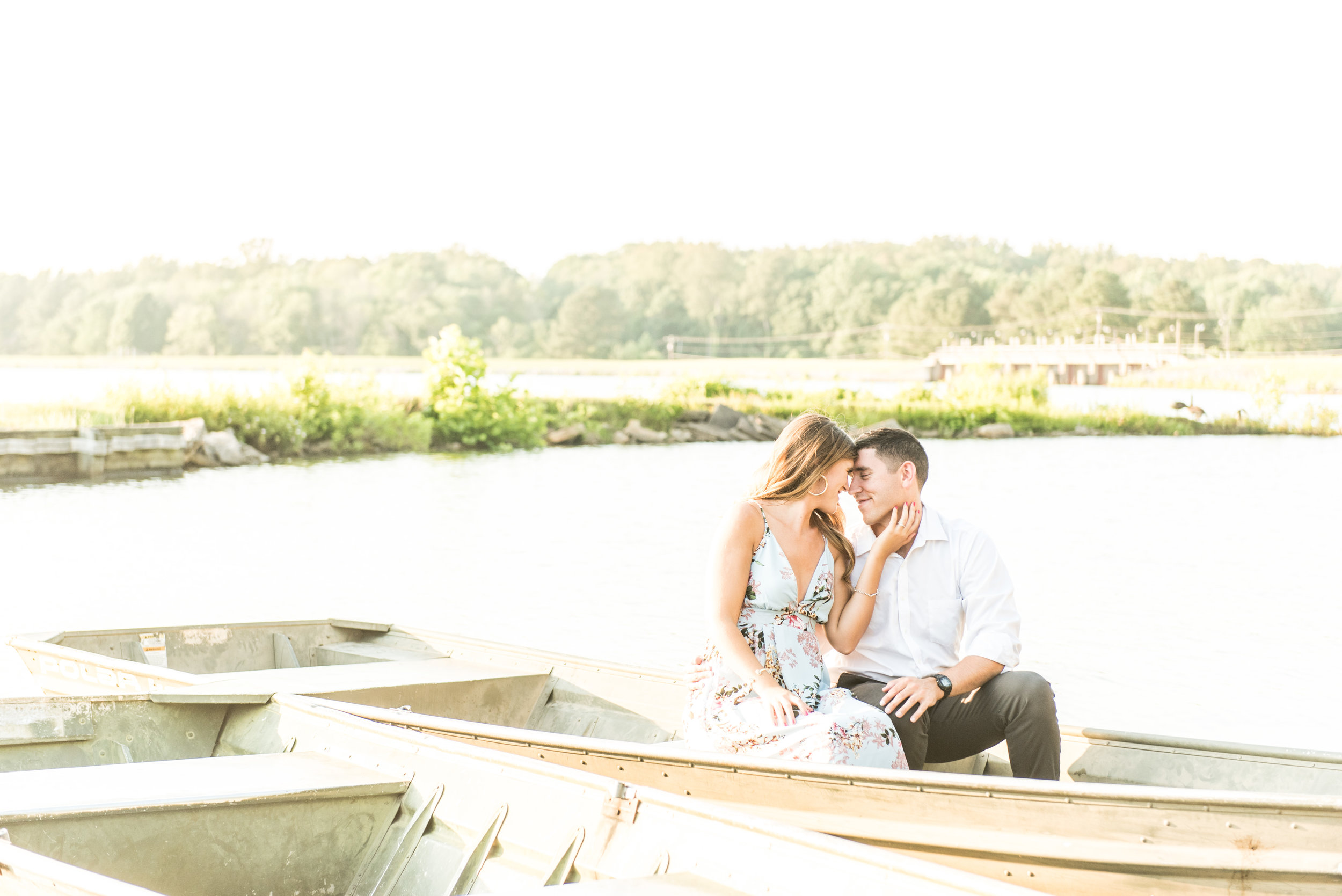 Lake Engagement Session Madalyn Yates Photography North Carolina Wedding Photographer