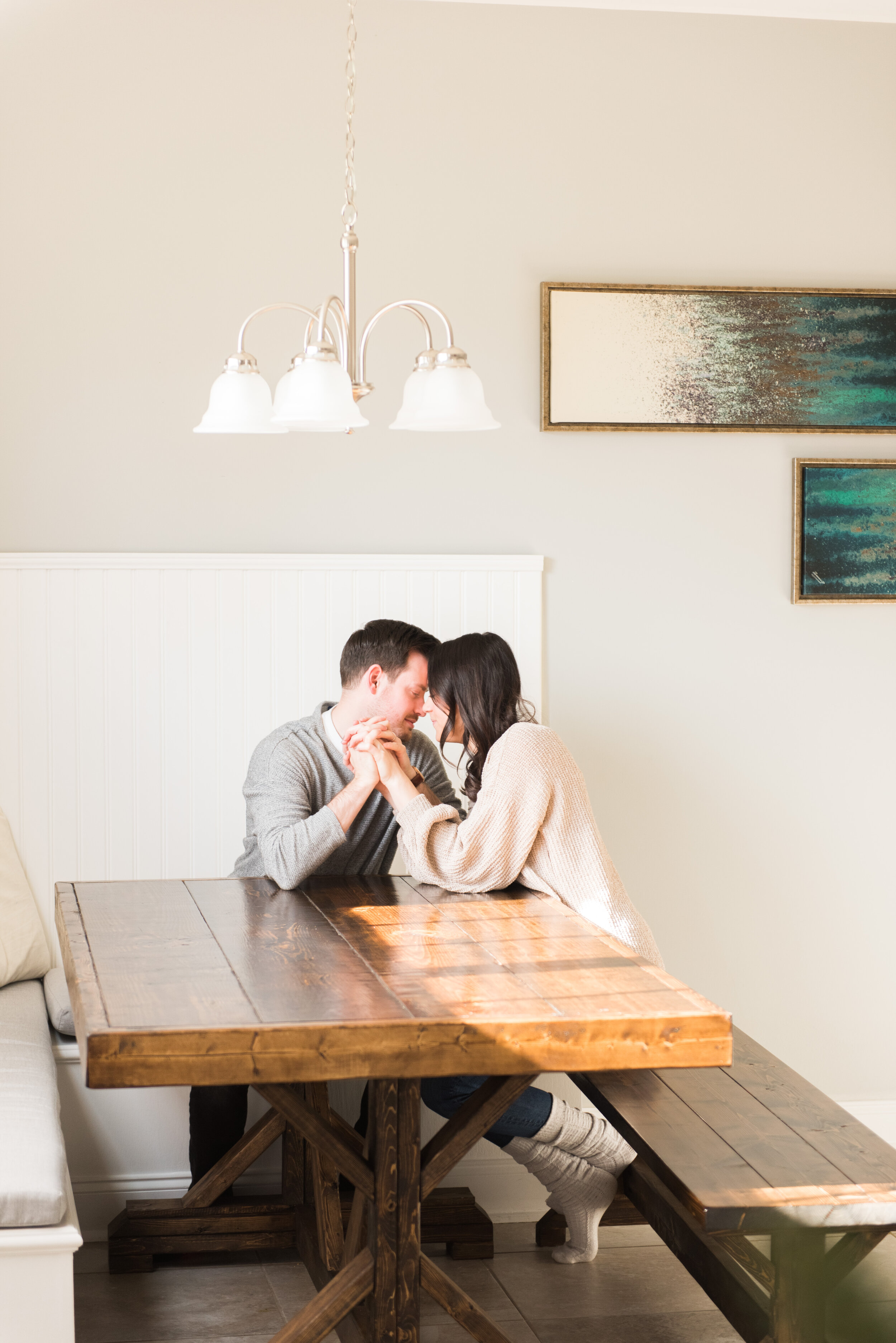Madalyn Yates Photography In-Home Couples Session North Carolina Photographer