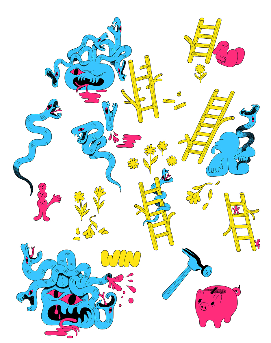 Jacobin - spot illustrations