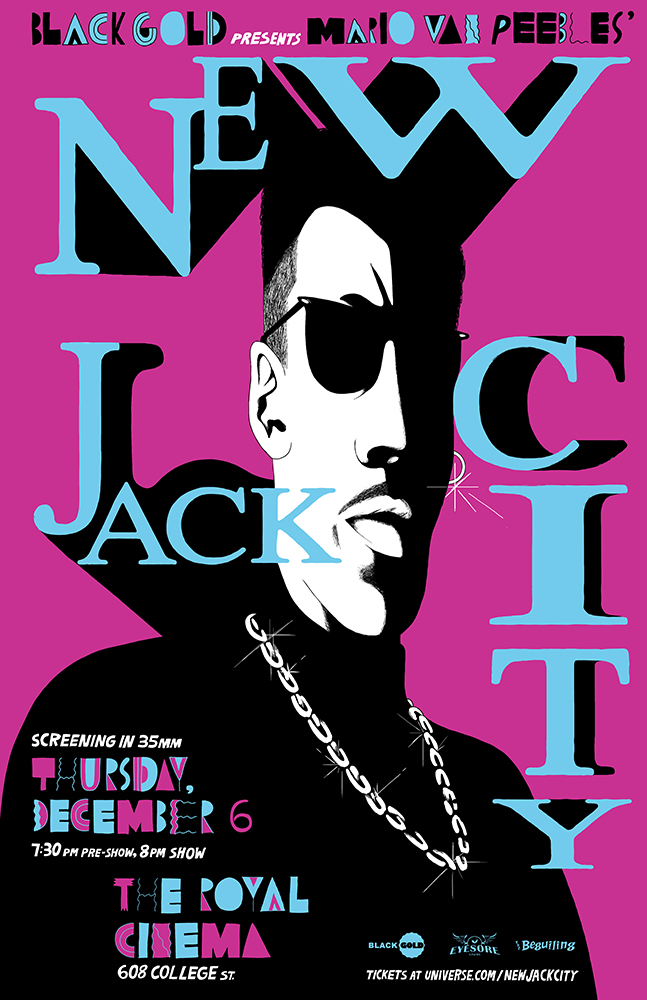 Poster for Black Gold's screening of New Jack City