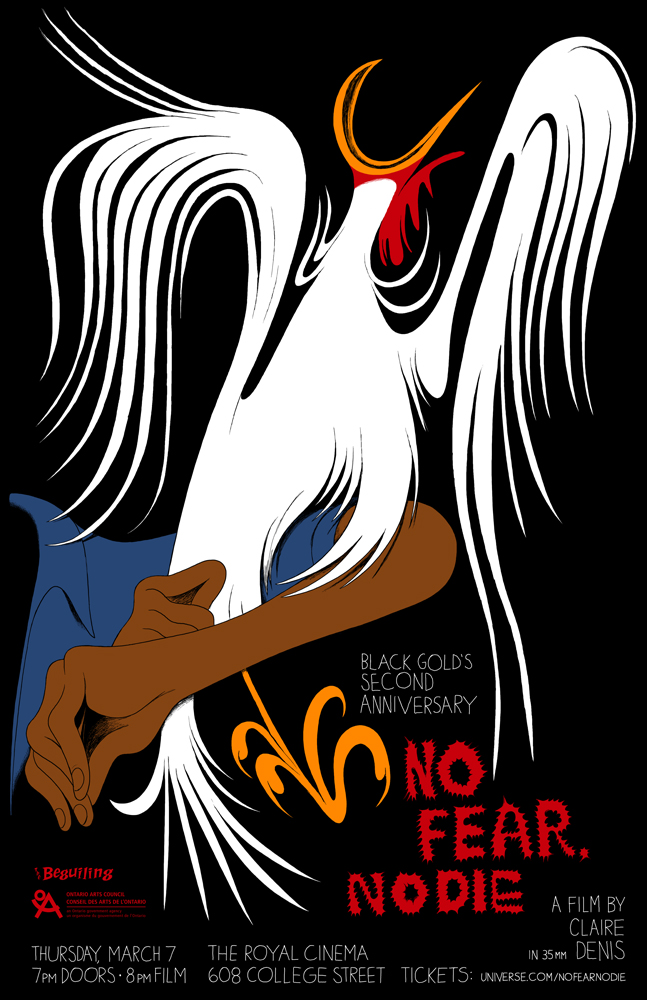 Poster for Black Gold's screening of No Fear, No Die
