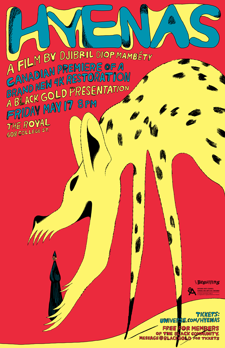 Poster for Black Gold's screening of Hyenas