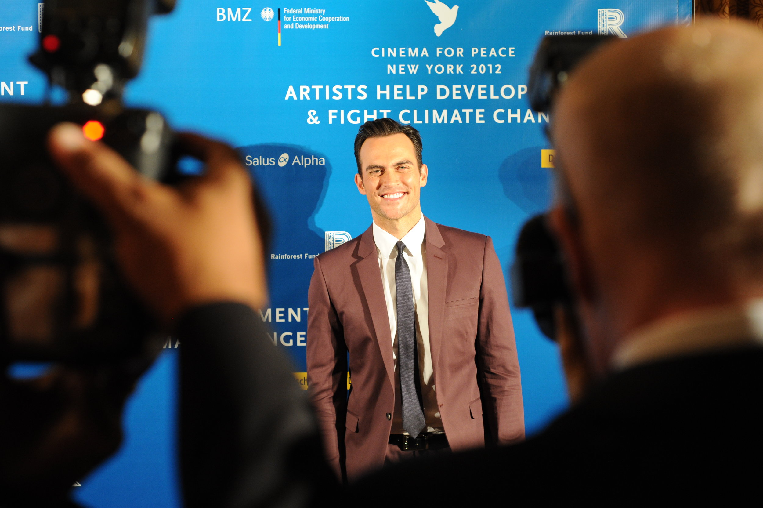 Cheyenne Jackson hits the Red Carpet at JGPR's Cinema for Peace Gala at The Harvard Club honoring Sting, Trudie Styler, The Rainforest Fund & The Leonardo DiCaprio Foundation..JPG