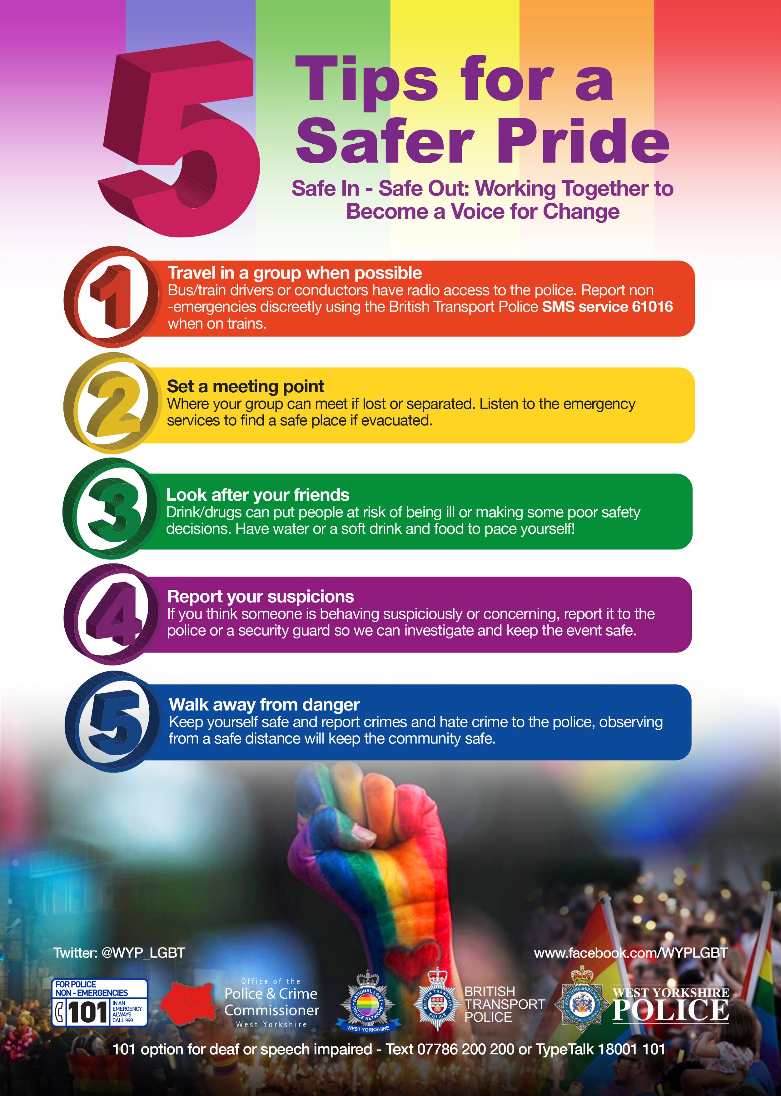 Tips for a Safer Pride — Leeds Pride