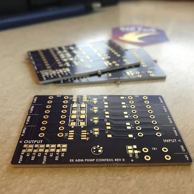 Some @oshpark making an appearance.  #bugrobotics #oshpark #pcbdesign #pcb #purplepcbs