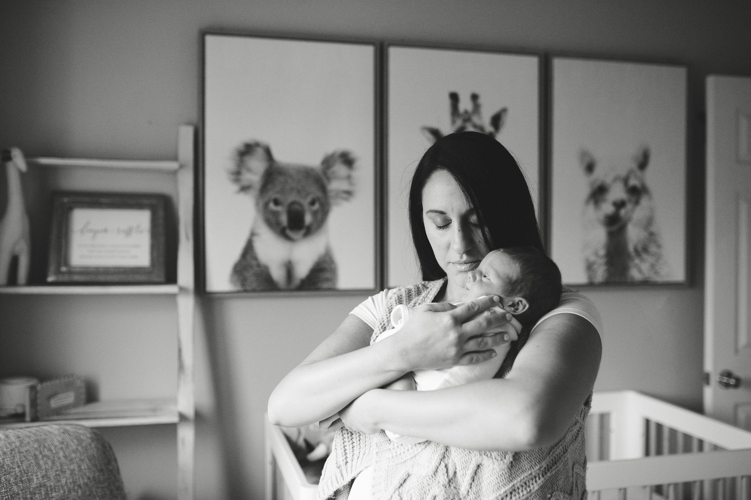Simon Te print, newborn boy nursery, black and white newborn, newborn photographer, nj newborn photographer
