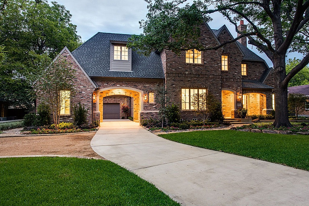 Was used to build this beautiful and distinctivecustom home in Dallas, TX.