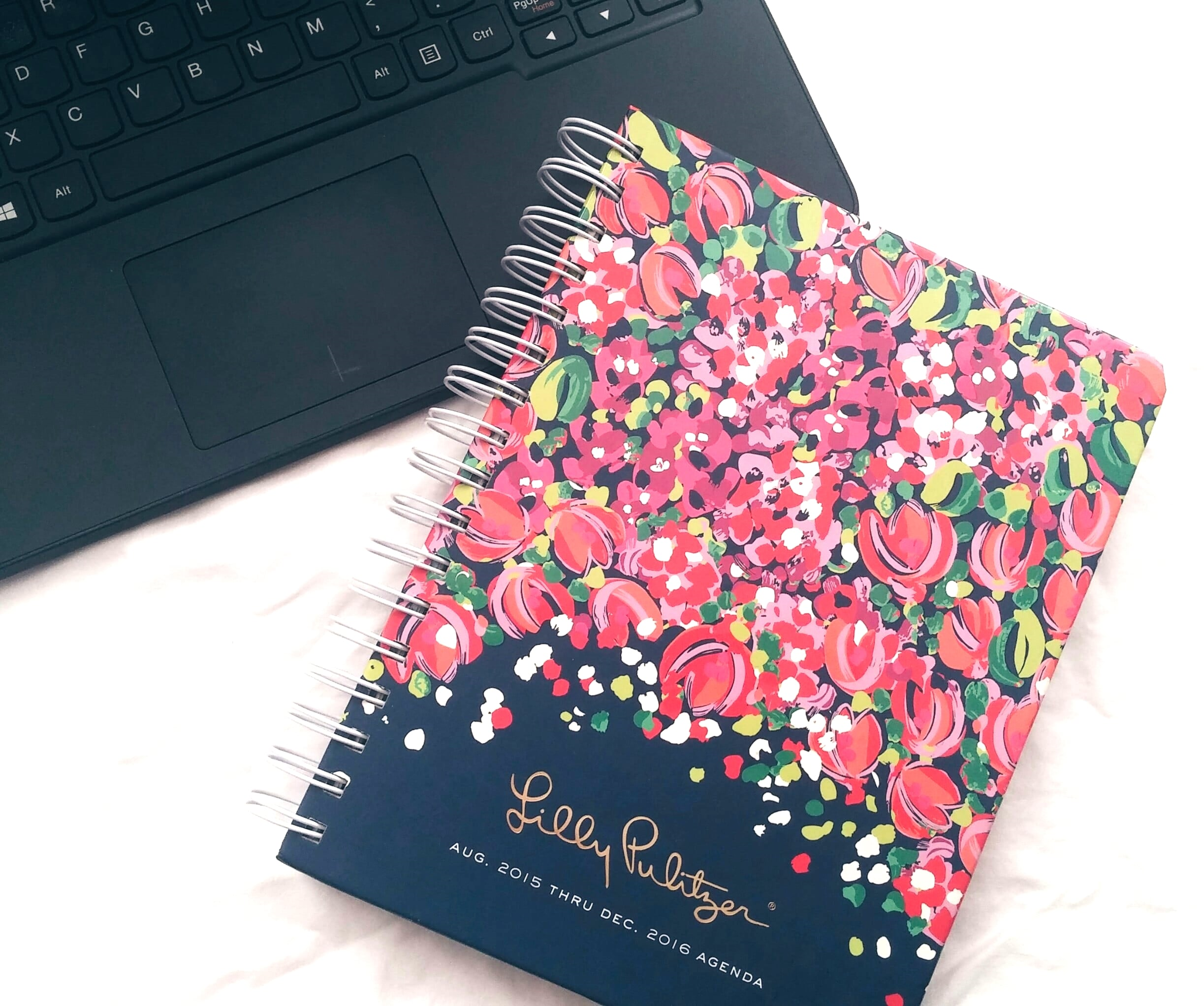 """Lilly Pulitzer large agenda featured in """"Wild Confetti"""""""