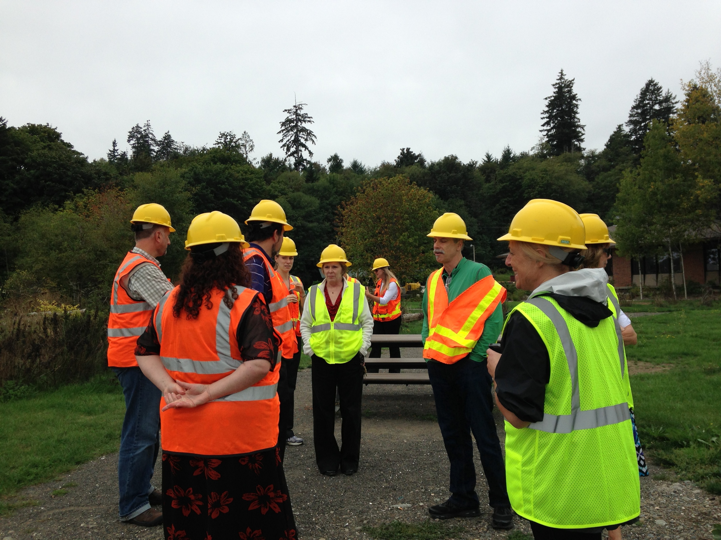 The Executive Committee on a field trip visiting one of the West Central LIO's projects.