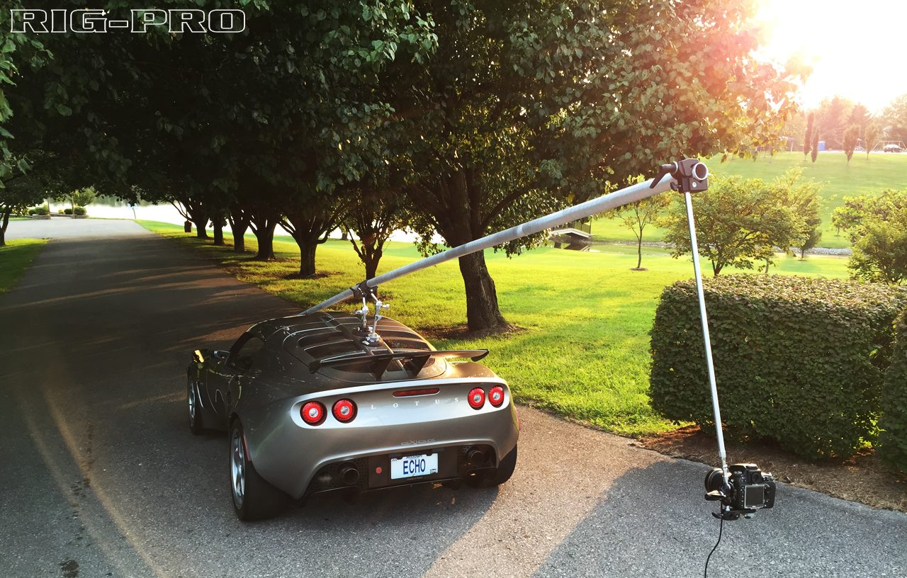 Andrew Thompson's Lotus with the RigPro rig and optional adapter/extension rod.