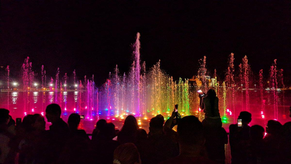 Watershow at big flag plaza