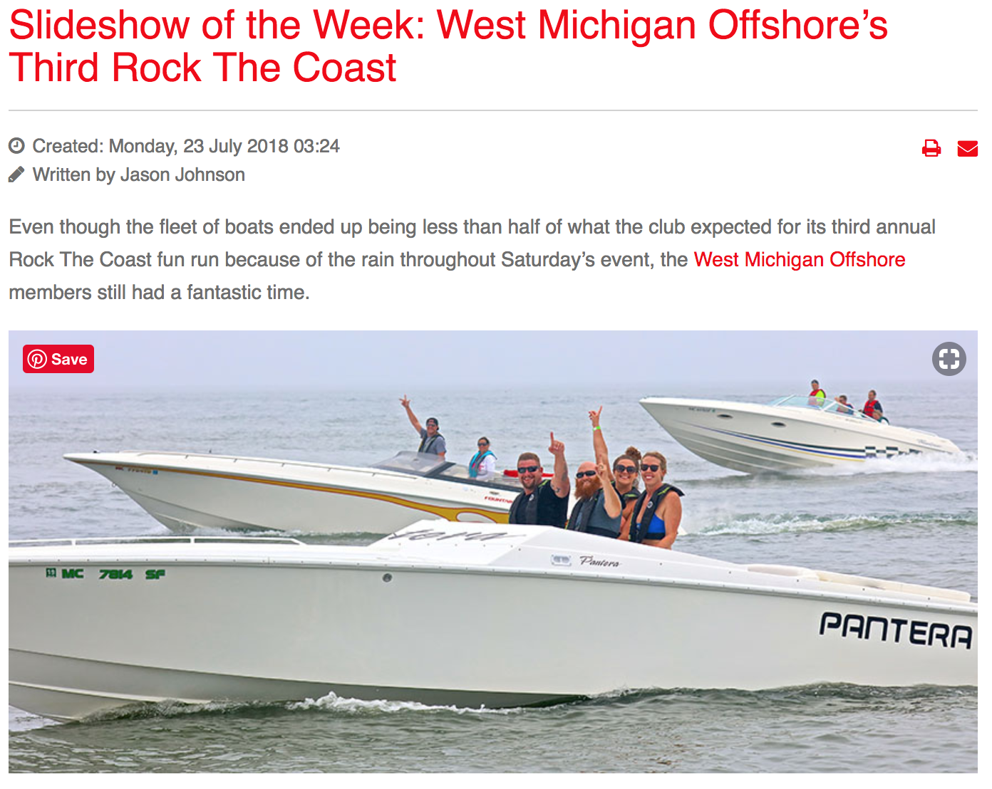 Slideshow of the Week: West Michigan Offshore's Third Rock The Coast -