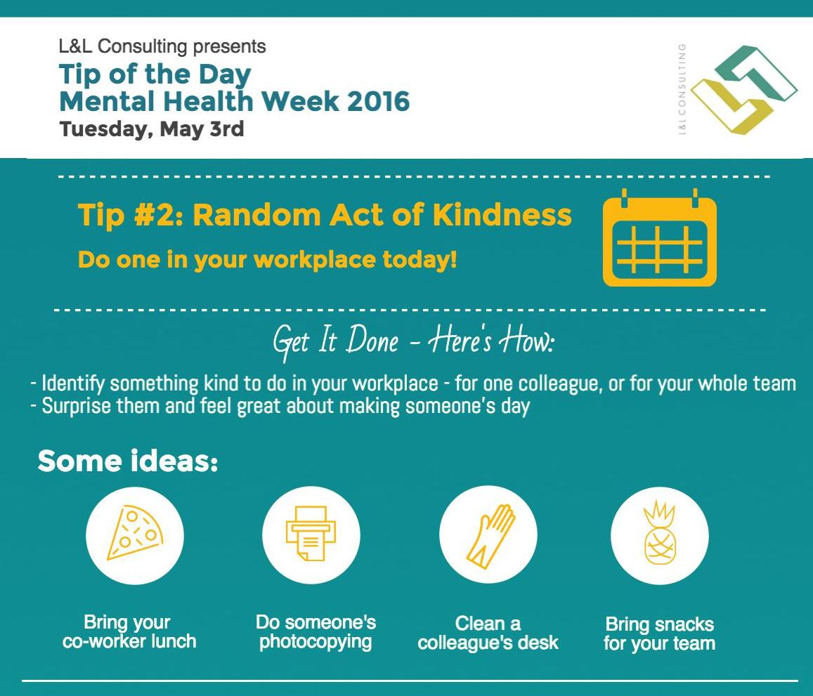 A random act of kindness will make you and whoever you are kind to feel great. Research shows that helping others is one of the things that makes us feel most fulfilled and gratified. What can you do?