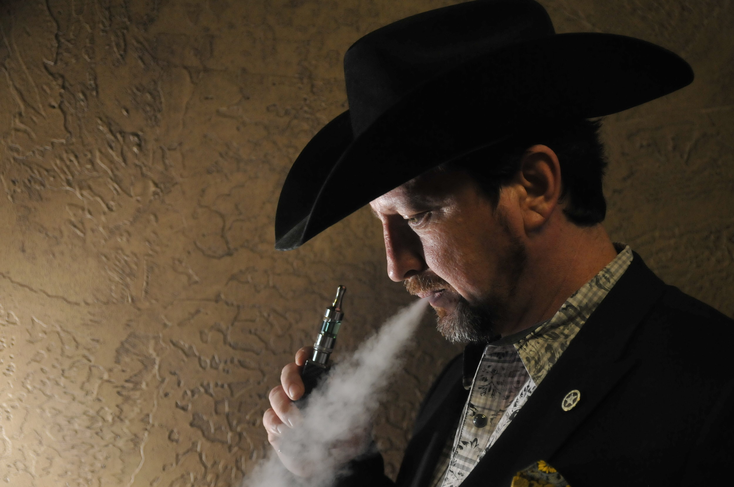 Sean Gore is the president of the Oklahoma Vapor Advocacy League and owns two vape shops of his own. Gore and OVAL are currently trying to fight against a bill that could place a 60% tax upon the sale of e-liquids in Oklahoma.  Nick Oxford for The New York Times