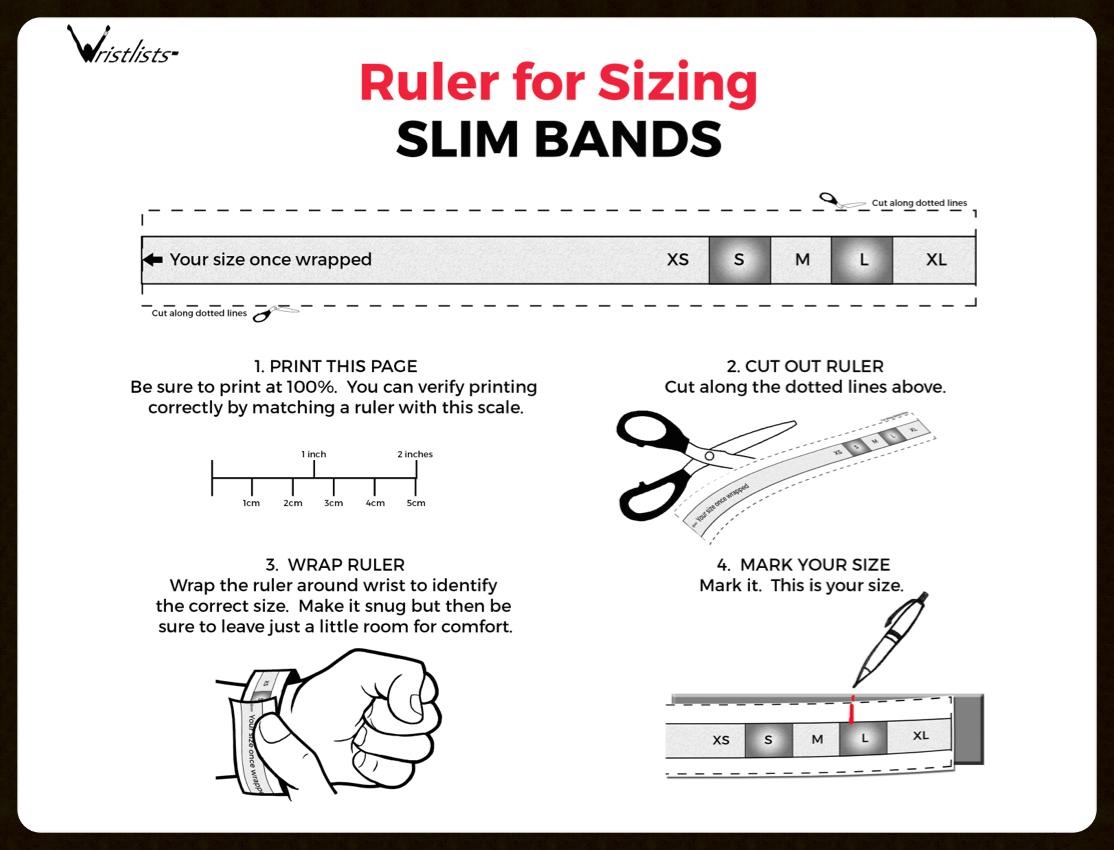 Ruler for Slim Band