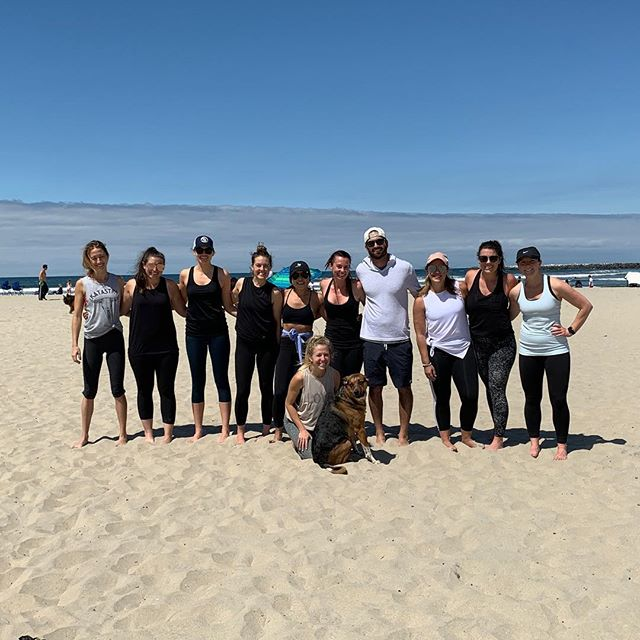 Happy birthday @robynnicole10 So glad you made me a part of it. #beachworkout #sandiego #sixpacks4summer