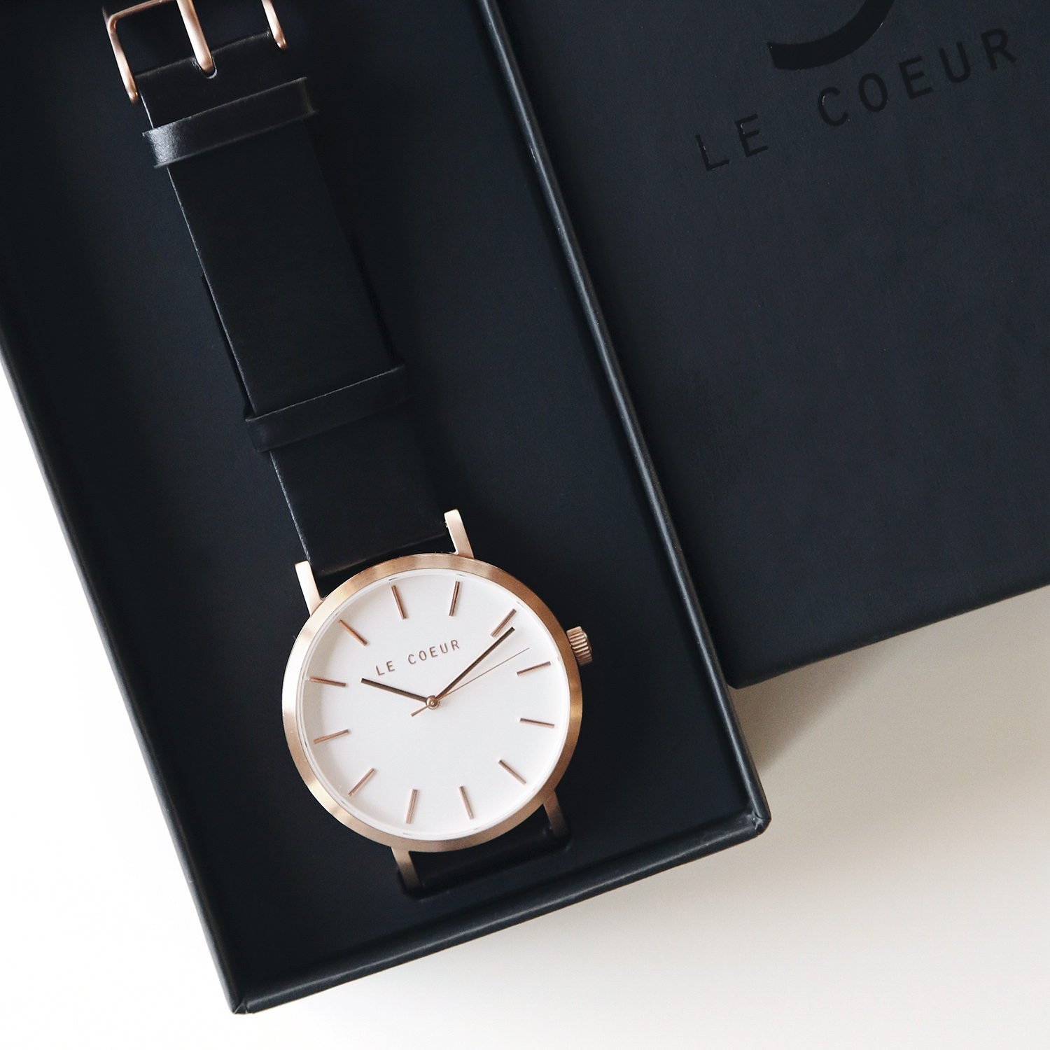 Le Coeur Rosegold and Black Dublin Timepiece.jpg