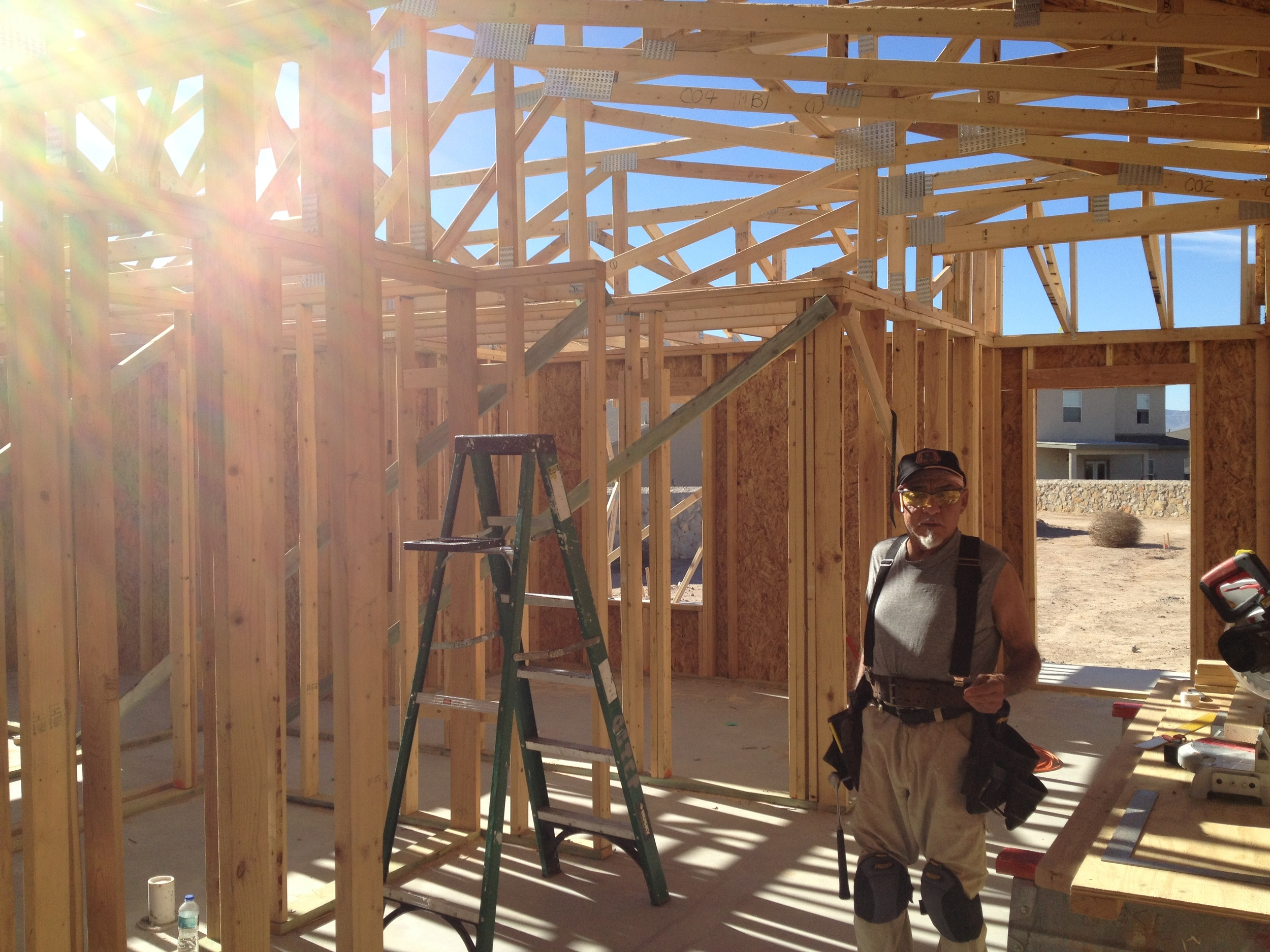 Master Carpenter and volunteer Jose Cabrera helped frame the house.