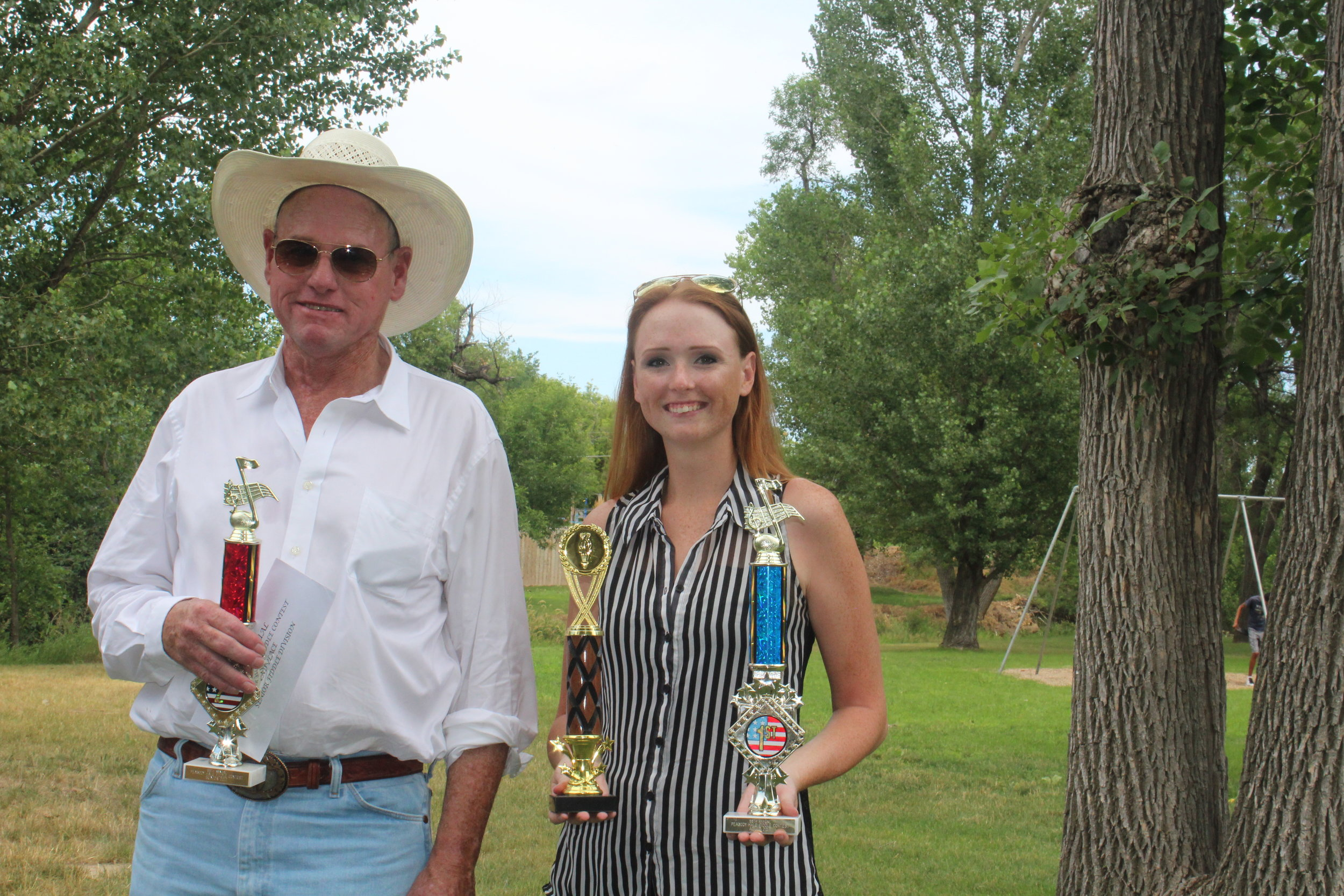 Crawford NE Fiddle Contest. Ronn got 2nd in his division. Abby got 3rd in Vocal and 1st on Fiddle in her division.