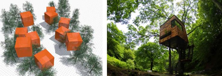 The idea of Tambo clusters                                 Treehouse by Takashi Kobayashi (Japan) www.boredpanda.com
