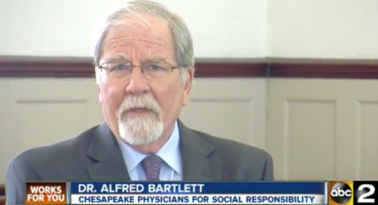 Chesapeake PSR's Dr. Alfred Bartlett spoke to WMAR ABC 2 about the benefits of solar to the lung health of Baltimore residents.