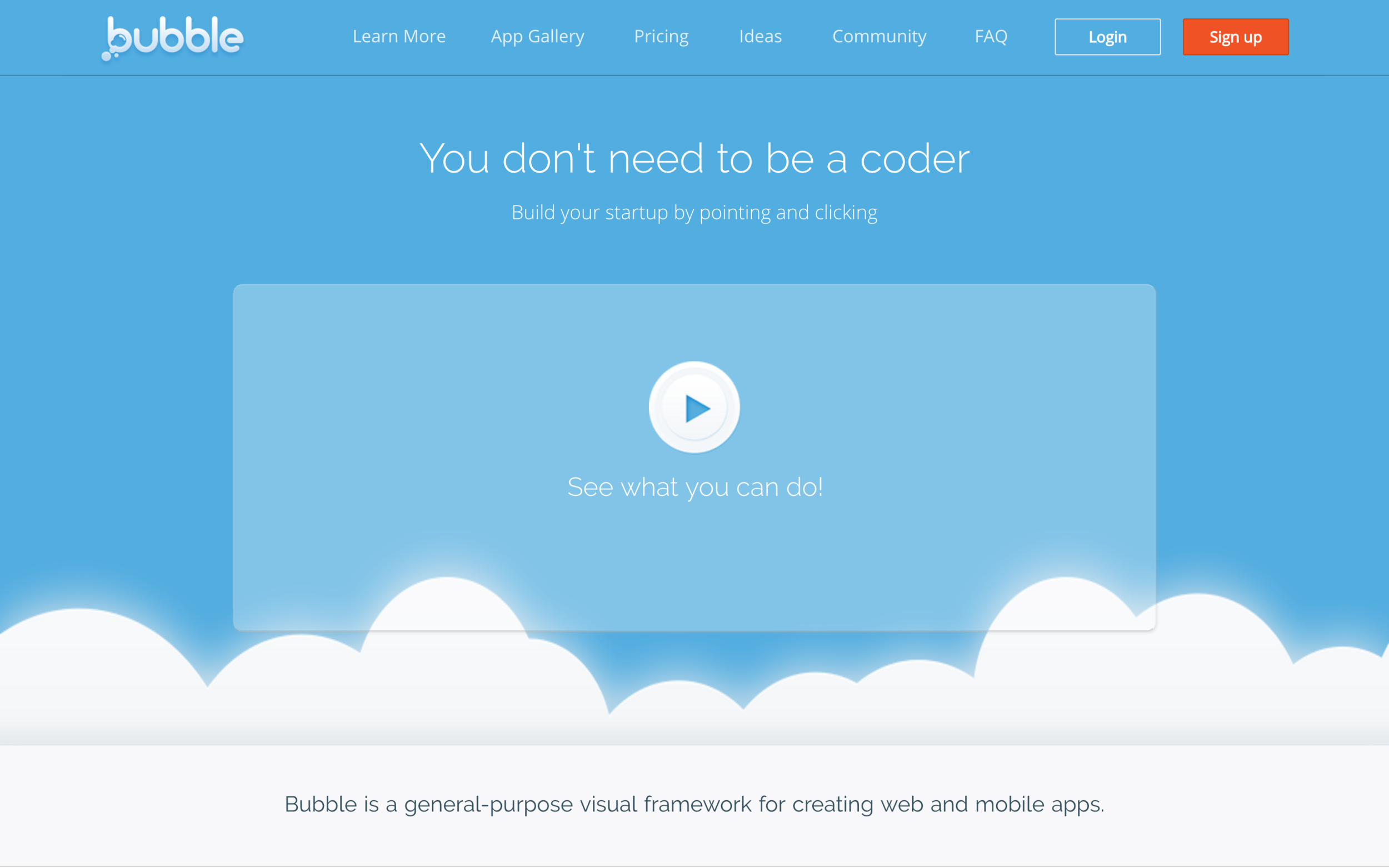 Bubble - A Free No Code Editor