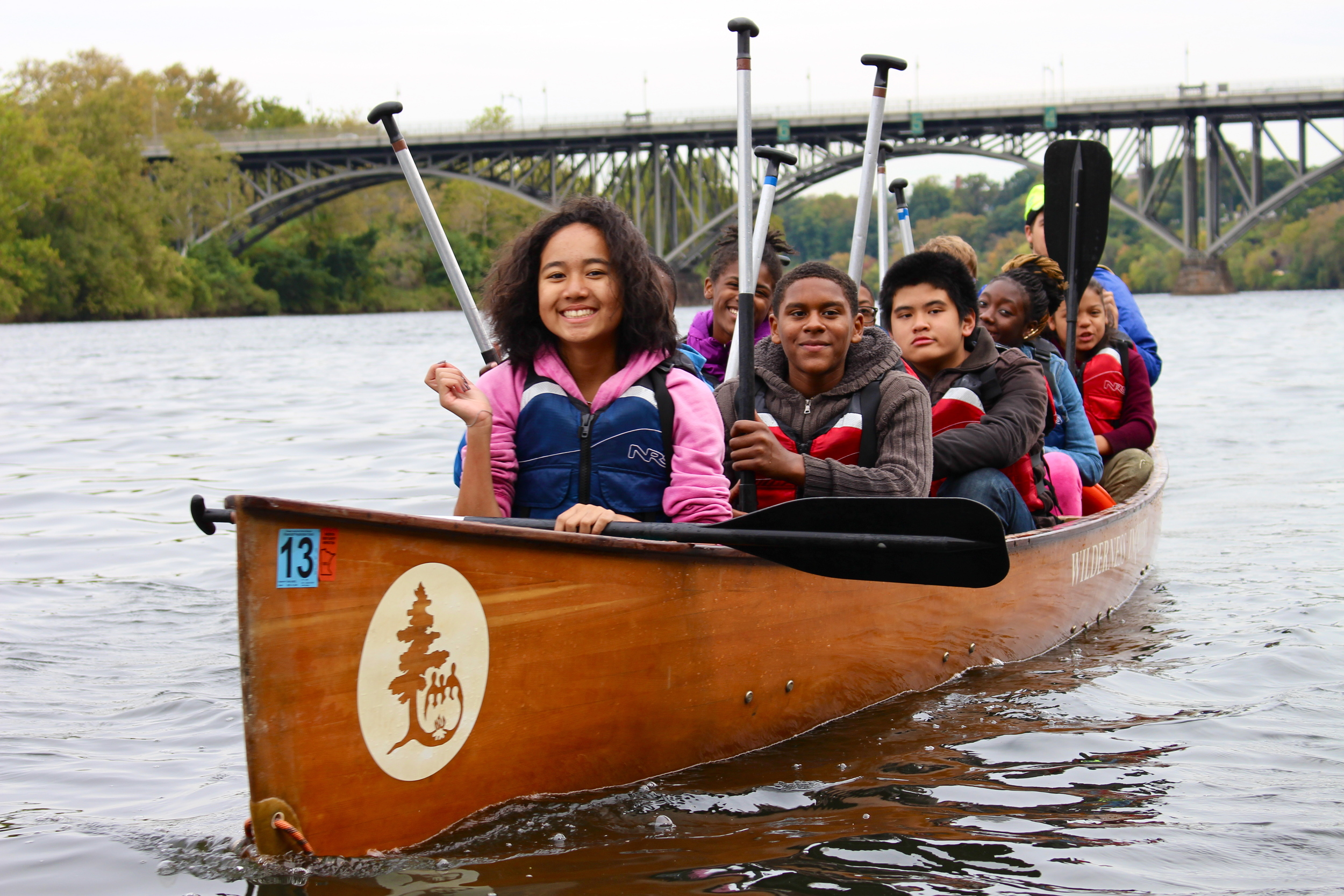 Philadelphia students explore the Schuylkill River during the 2013 Wilderness Inquiry Canoemobile Event. (1).JPG