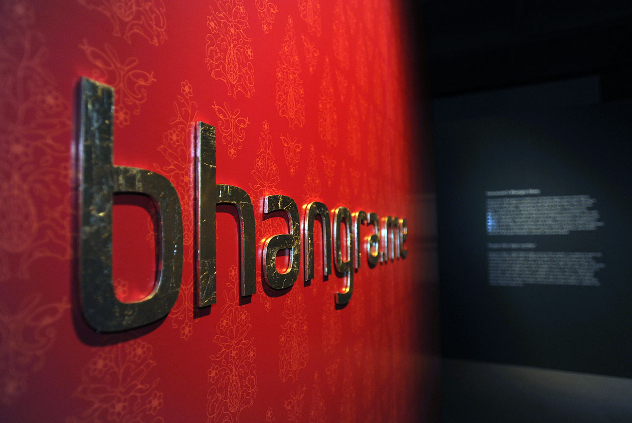 Bhangra.me exhibition design for the Museum of Vancouver