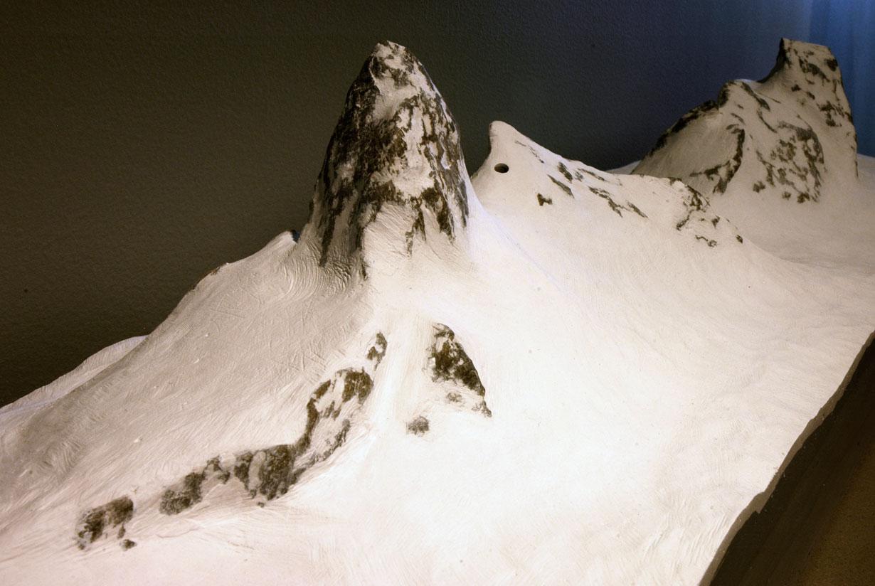 Range Redoubt Sculpture mountain detail