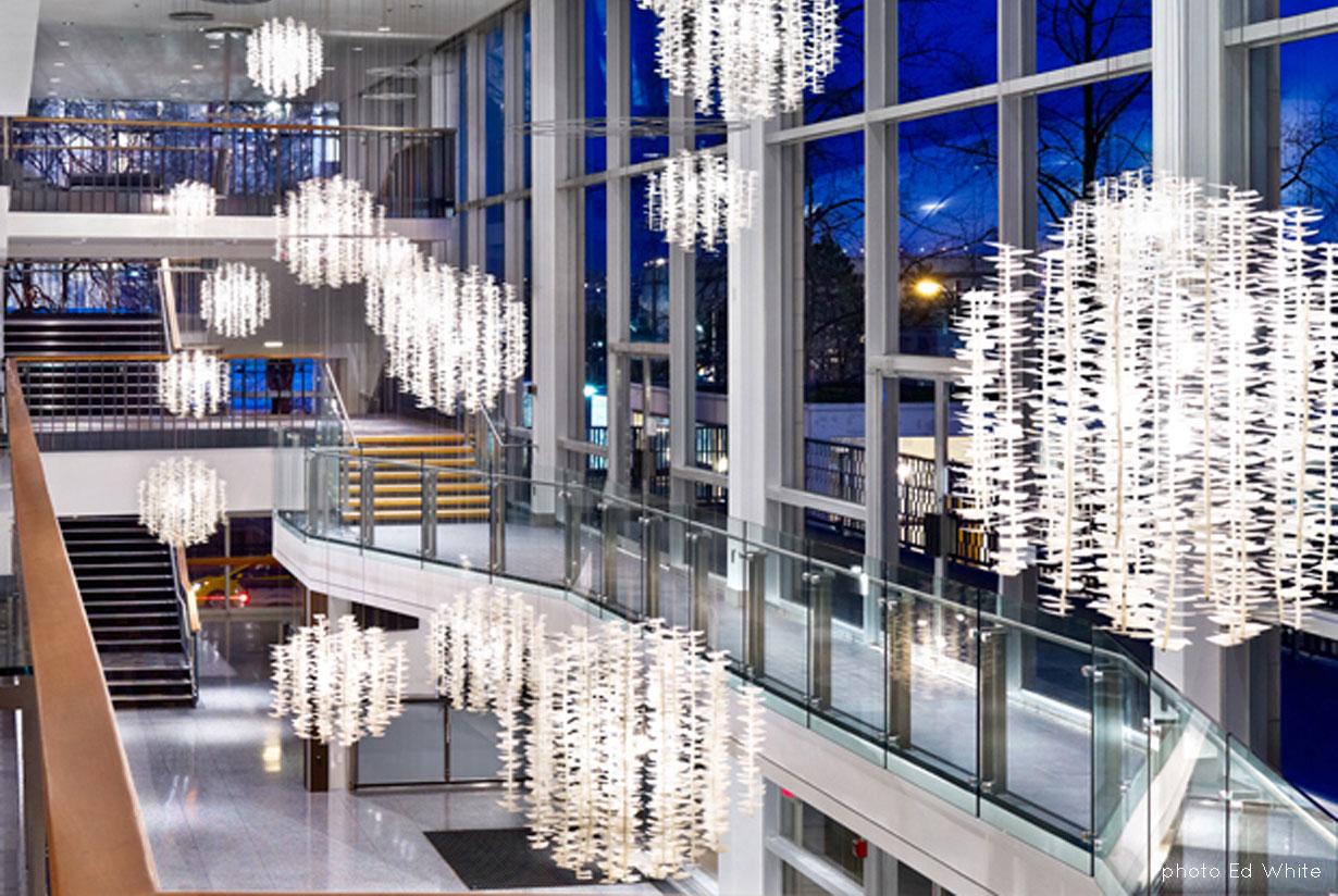 Queen Elizabeth Theatre Sombrio Orb Lights