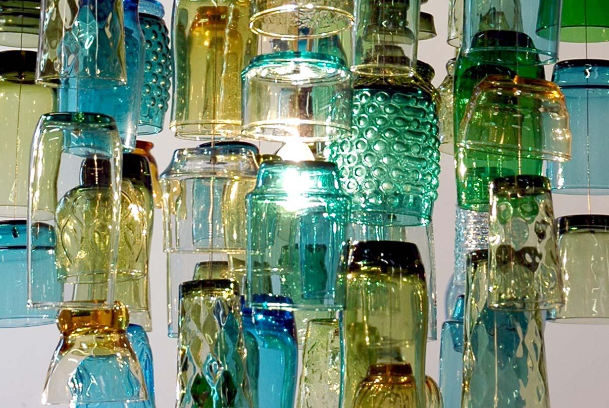 Dram glasses - blue, green, amber