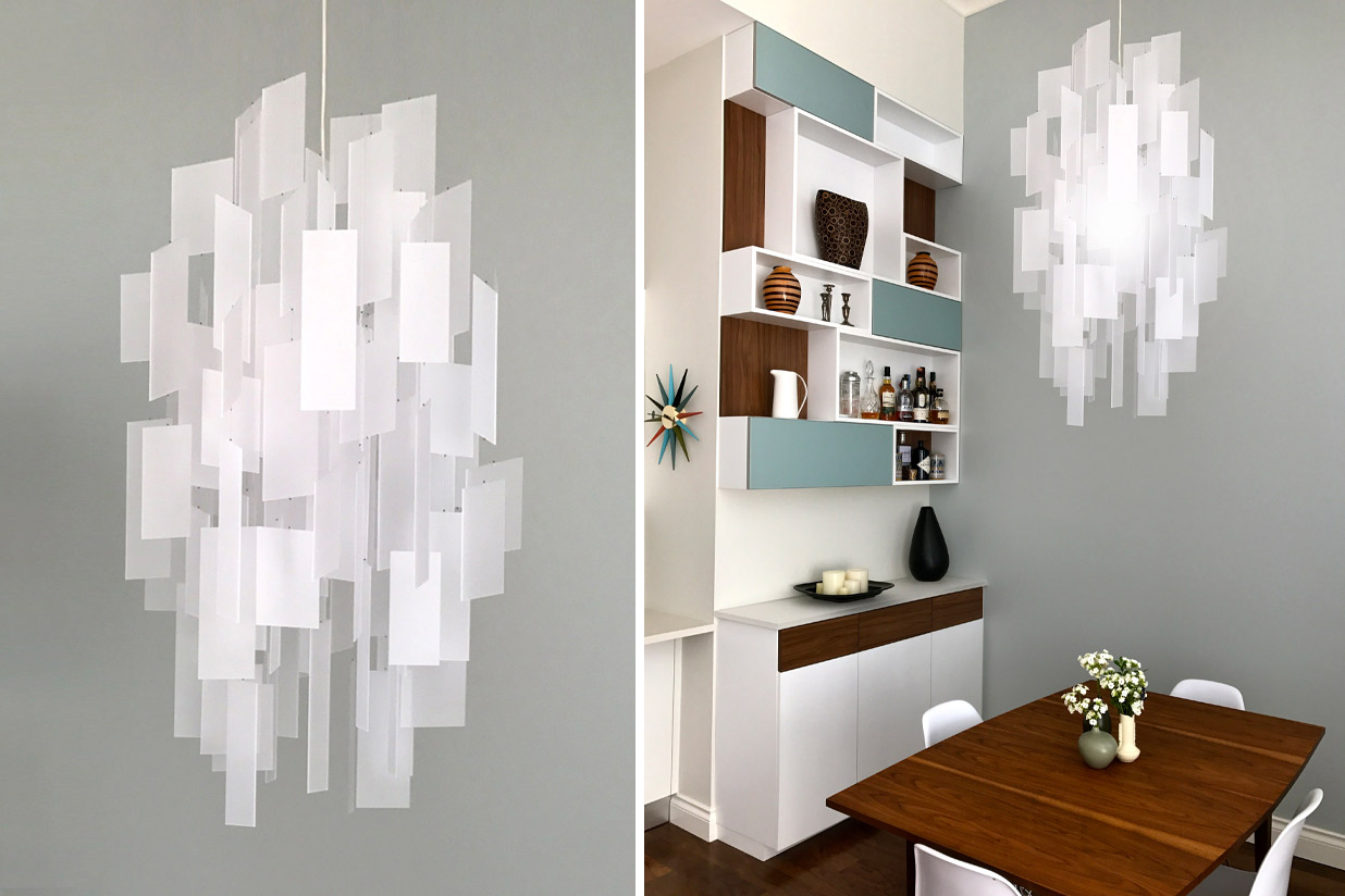 Cumulus 24 Chandelier - white eco-resin