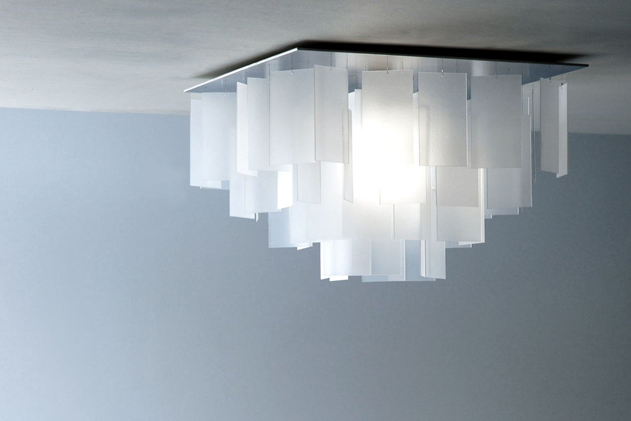Cumulus 16 x 16 Chandelier - white eco-resin