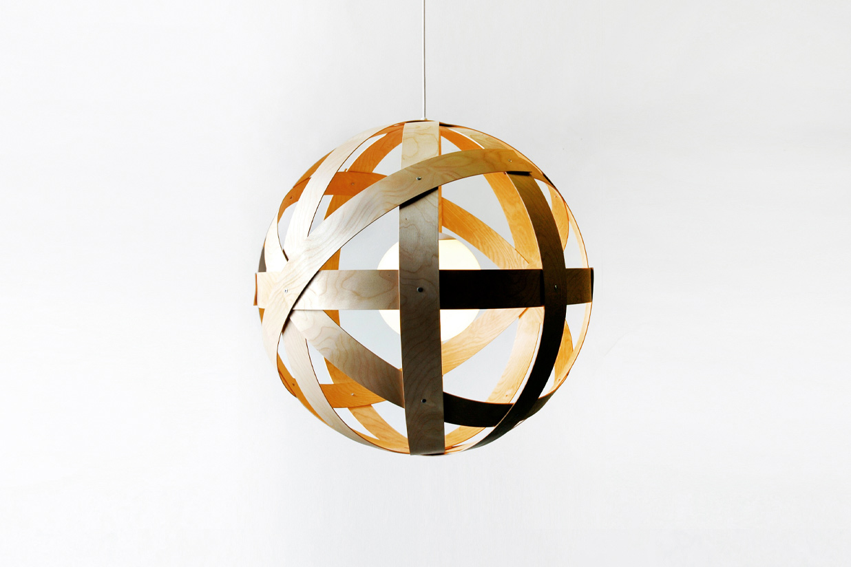 Meridian 24 Pendant Light - birch