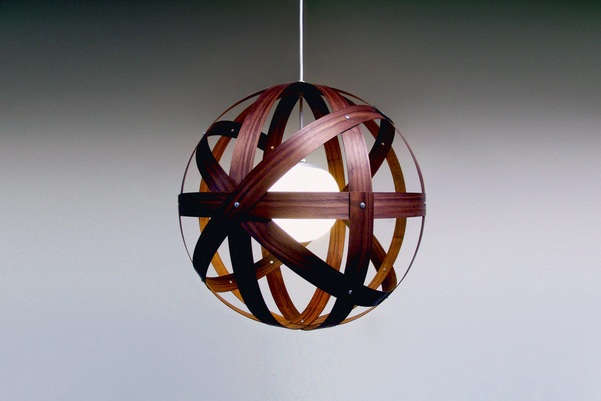 Meridian 24 Pendant Light - walnut