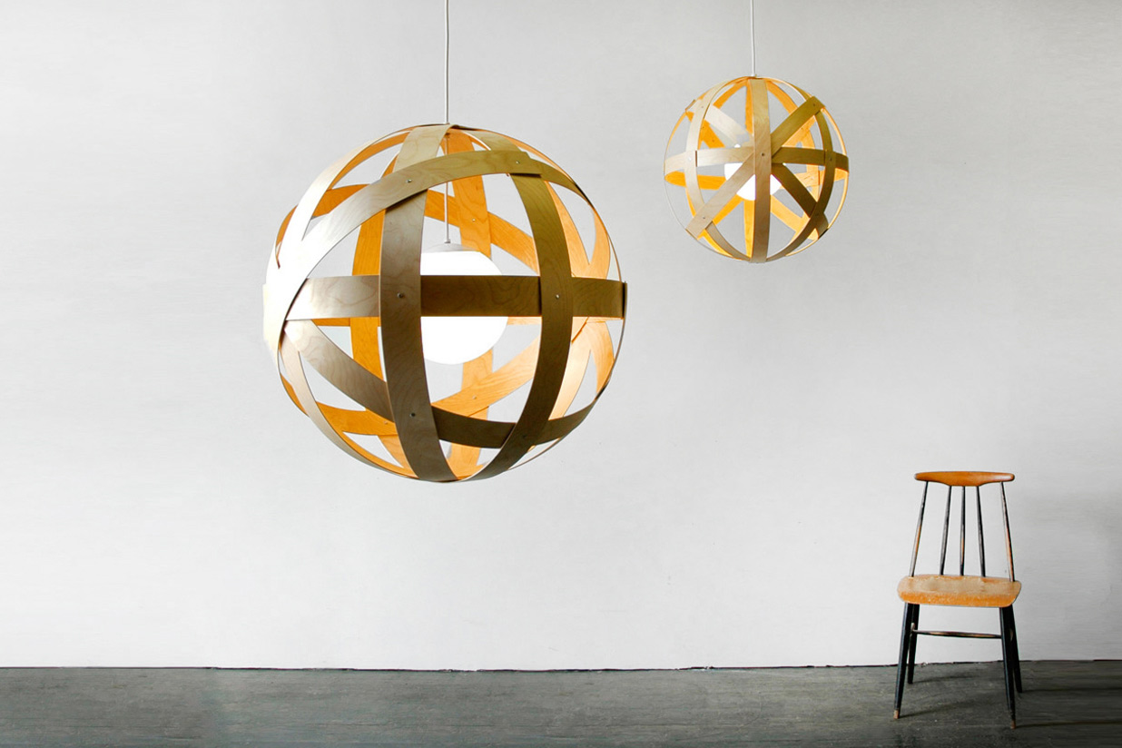 Meridian 24 and 42 Pendant Lights - birch