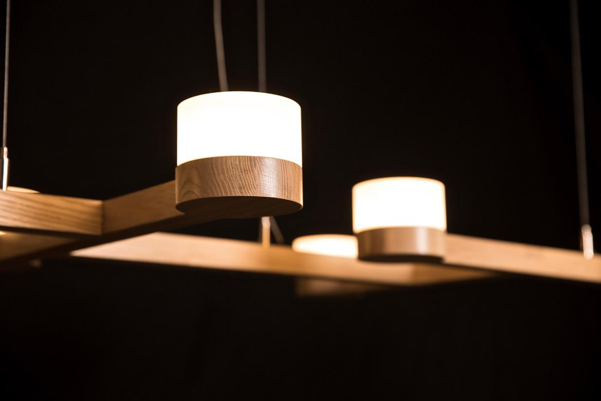 Adanac 7 Light detail - ash hardwood