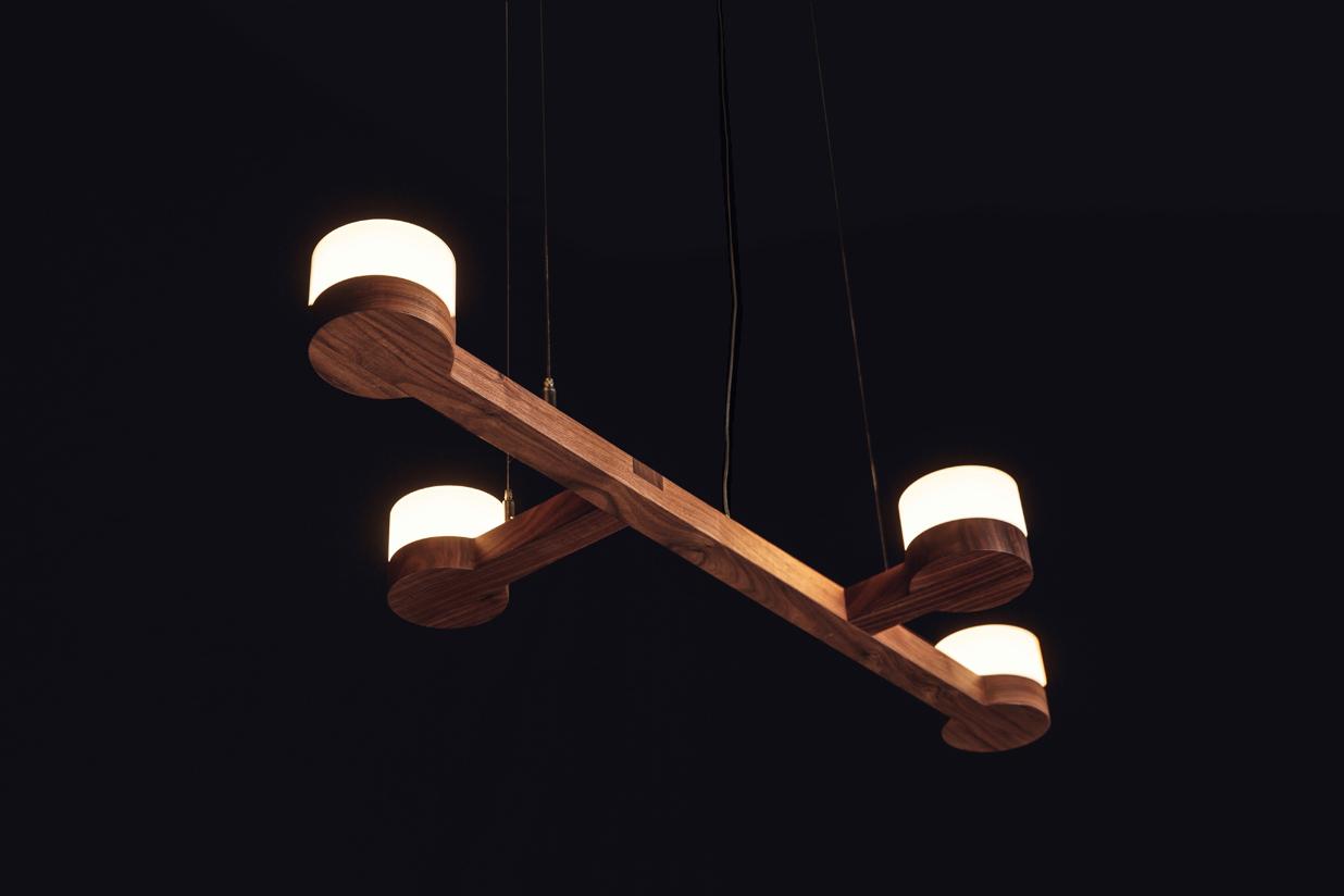Adanac 4 Light - walnut hardwood