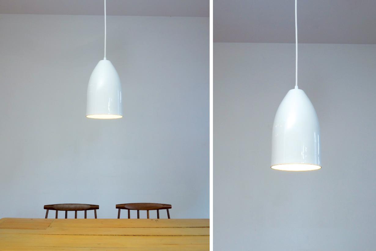 "Homespun Pendant Light - 6.5""Ø white"