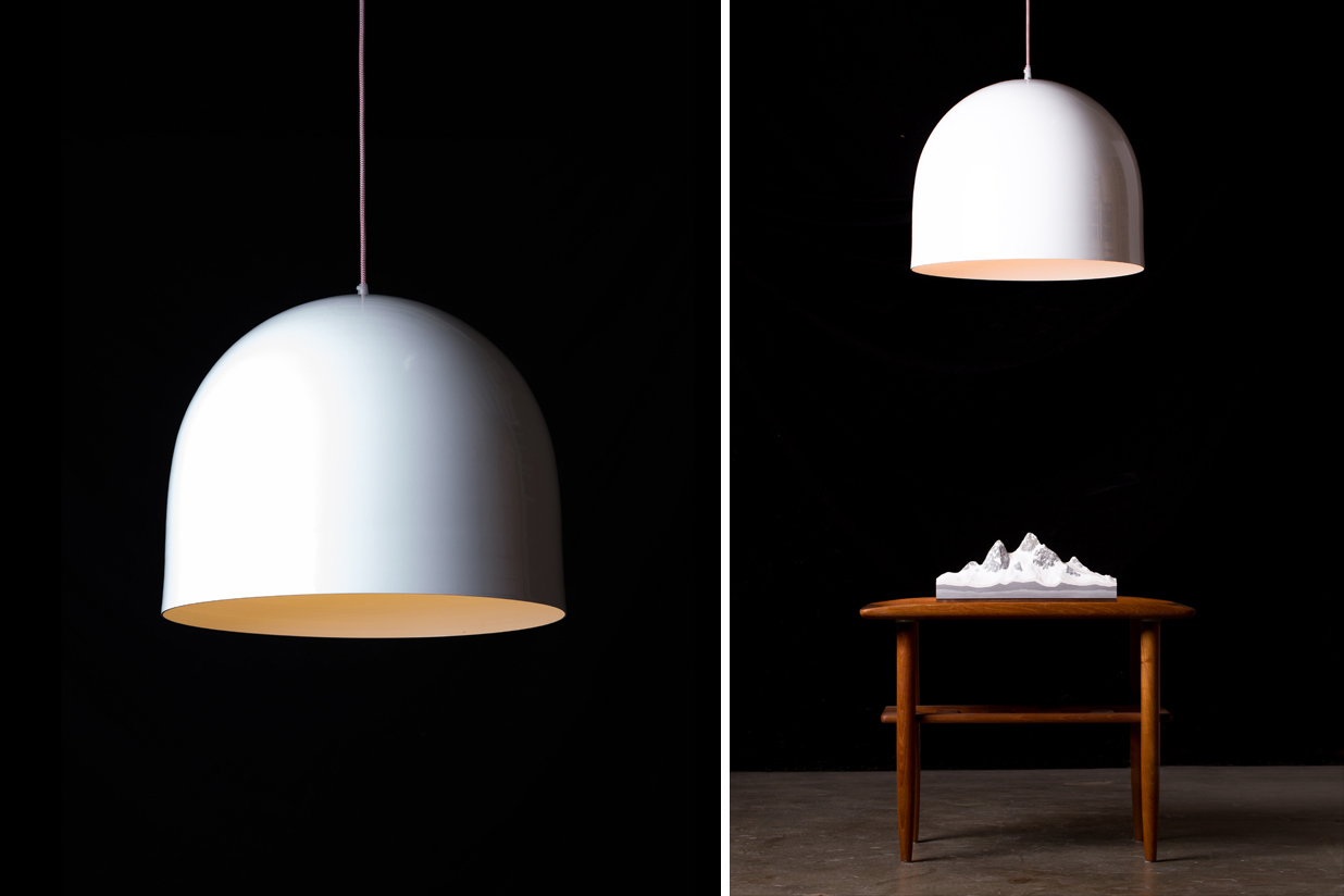 "Homespun Pendant Light - 18""Ø white"