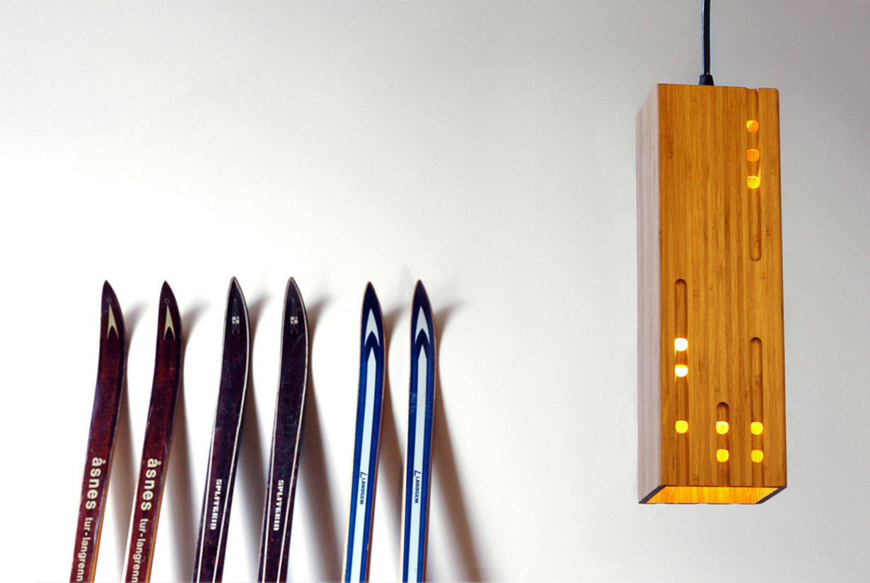 Calvino 1 bamboo pendant light