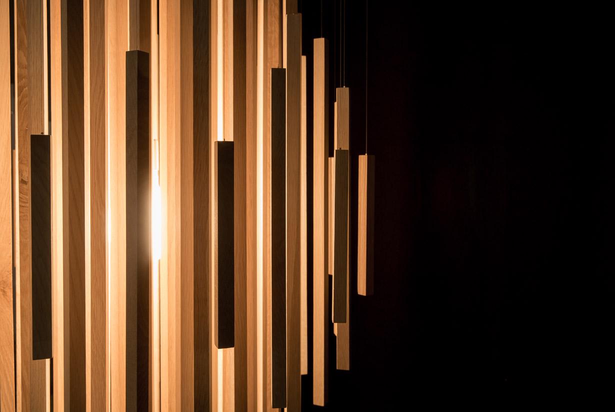 Orée 30 light (detail) - bleached white oak hardwood